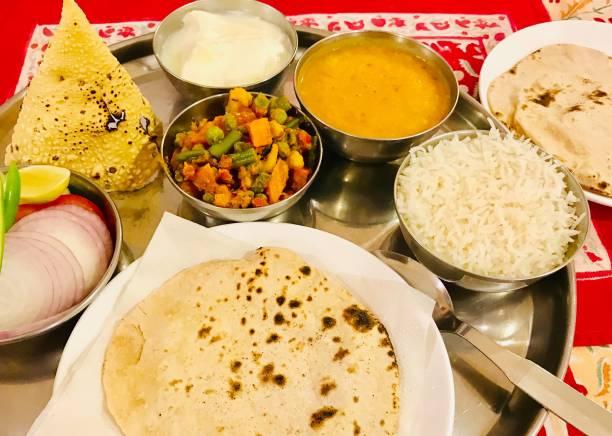 Indian thaali stock photo