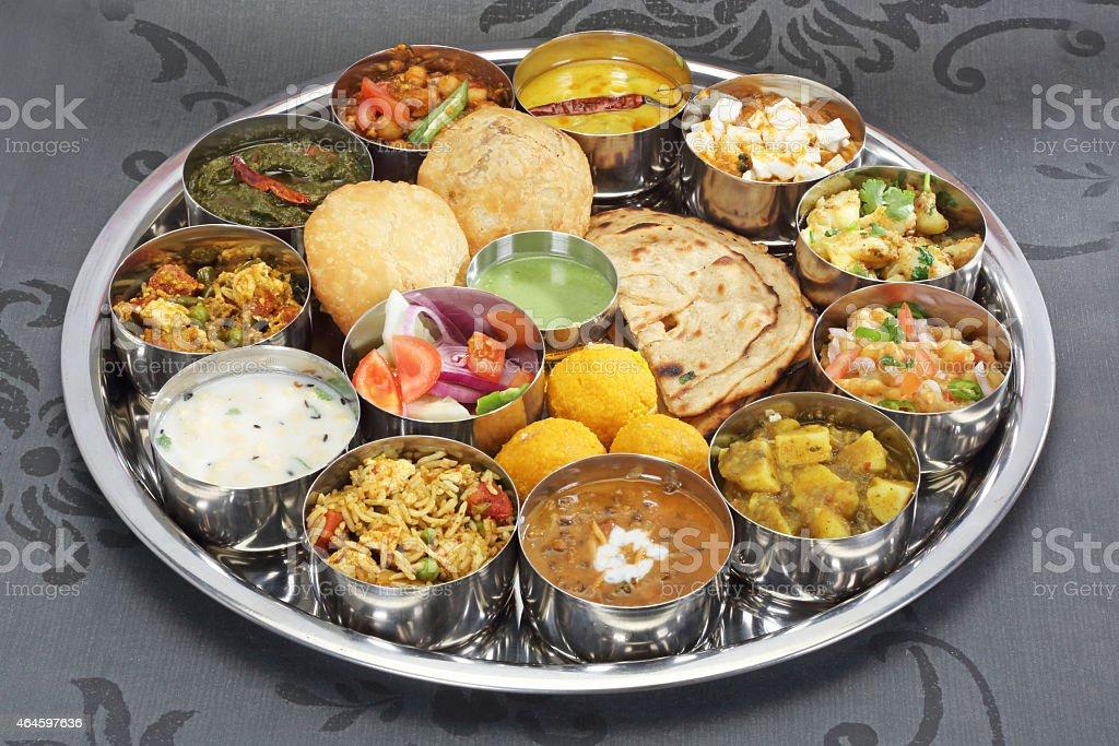 Indian Thali stock photo