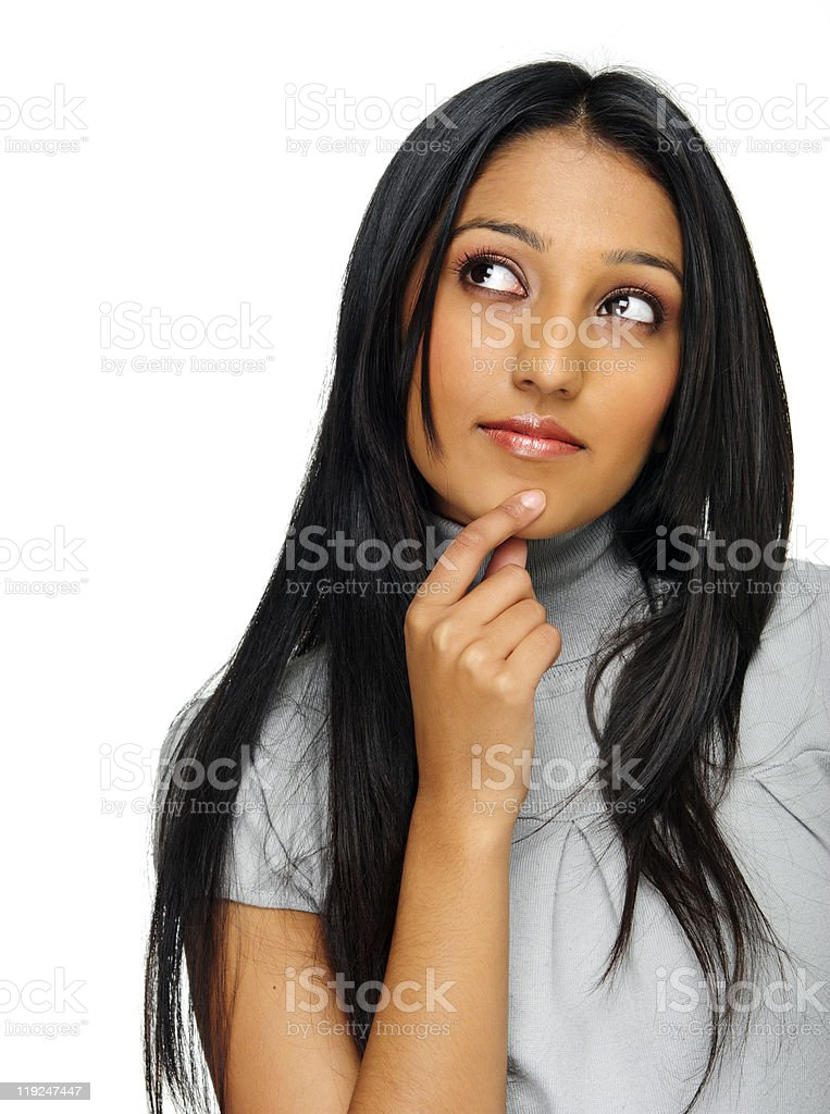 Indian thoughtful girl royalty-free stock photo