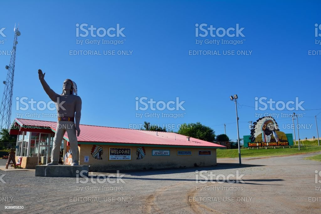 Indian Trading Post and Art stock photo