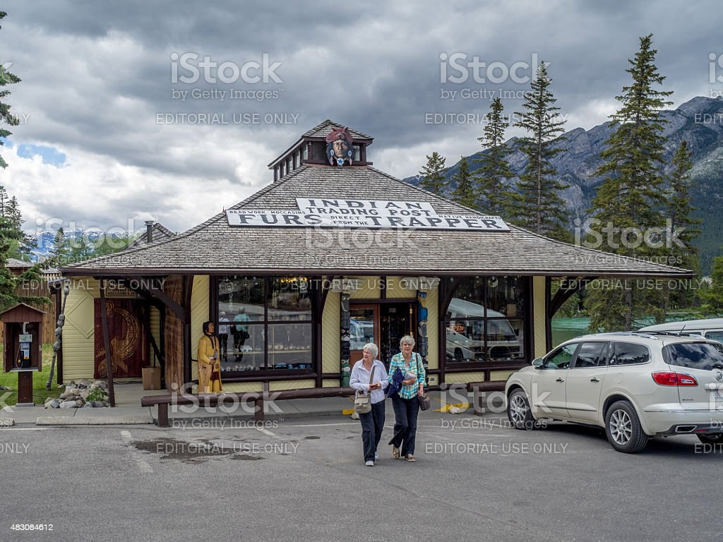 Indian Trading Post stock photo