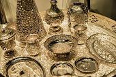 India traditional style silver tableware whole set