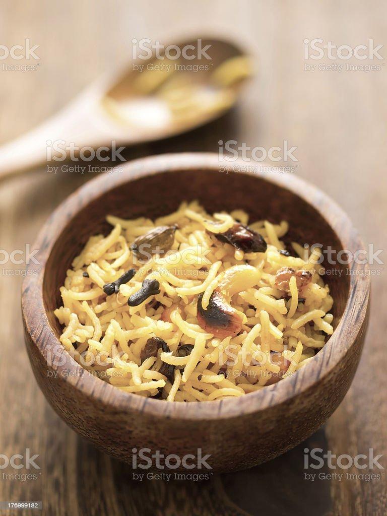 indian turmeric rice royalty-free stock photo