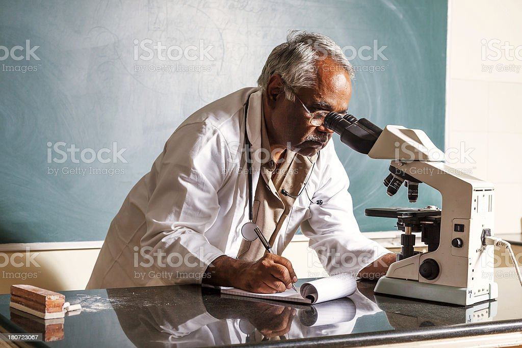 Indian University Professor stock photo