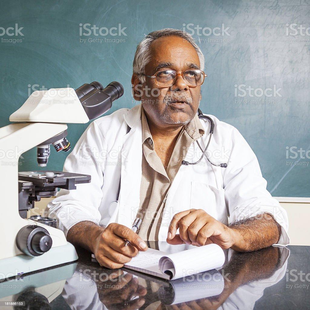 Indian University Professor royalty-free stock photo