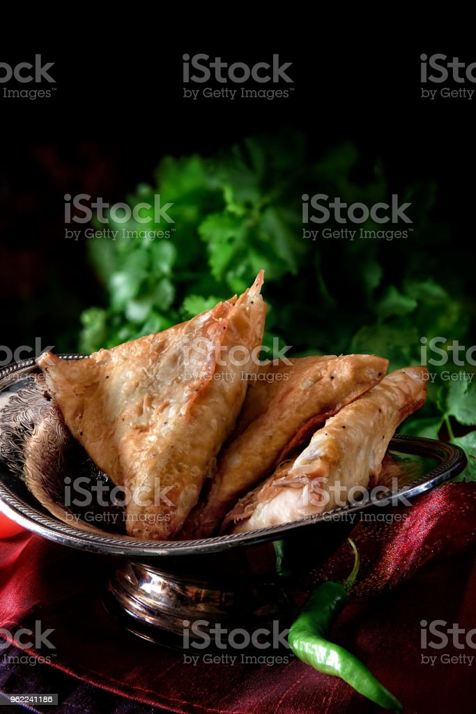 Indian Vegetable Samosa stock photo