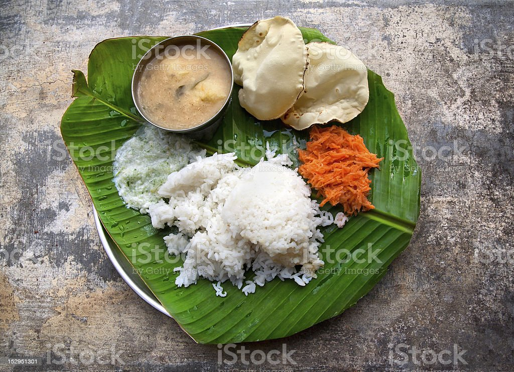 Indian Vegetarian dishes stock photo