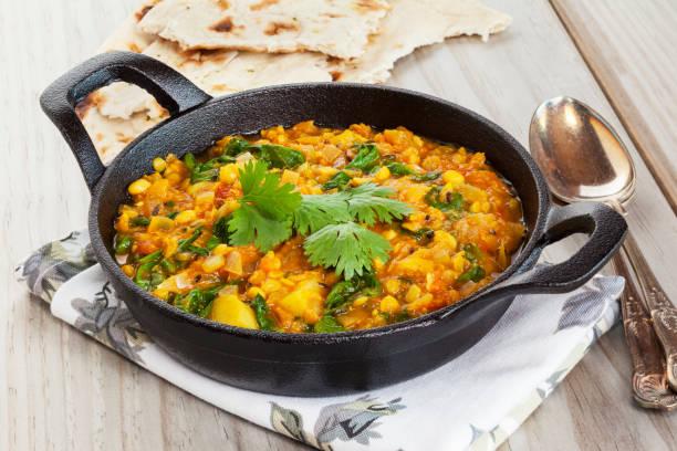 Indian Vegetarian Food stock photo