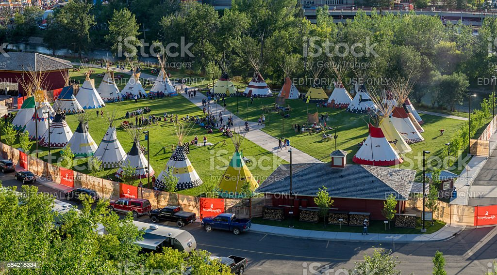 Indian Village at the Calgary Stampede stock photo