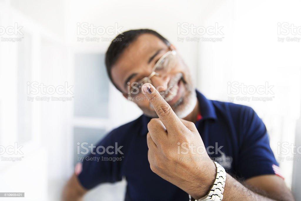Indian Voter stock photo