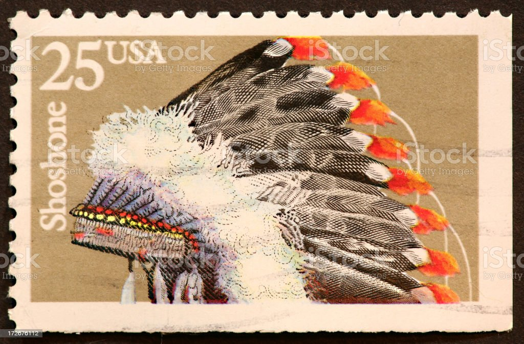 Indian warbonnet stock photo