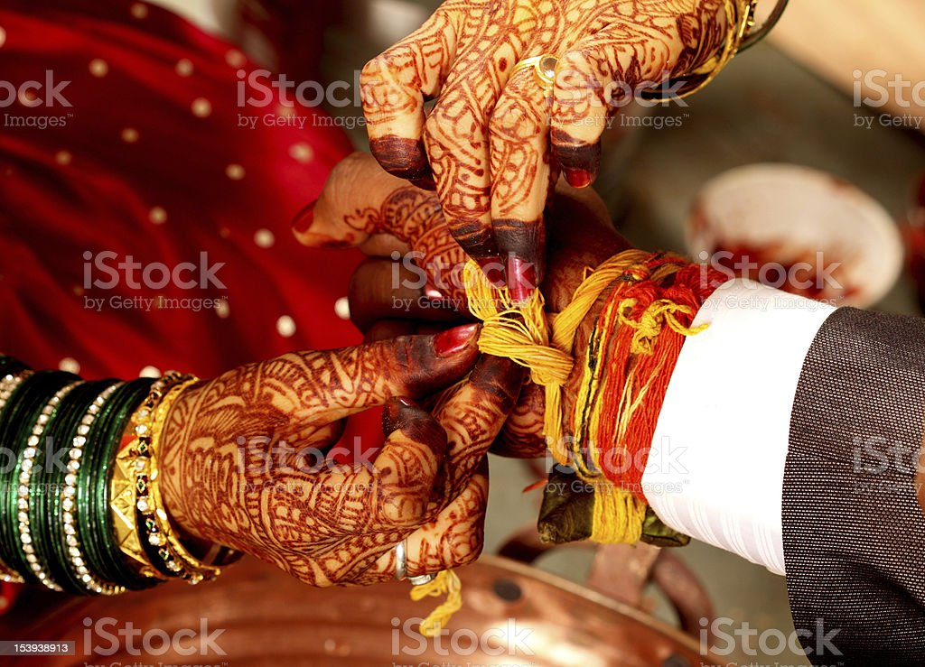 Indian wedding ceremony - details stock photo
