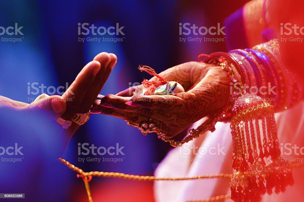 Indian Wedding Ceremony, Indian Marriage stock photo