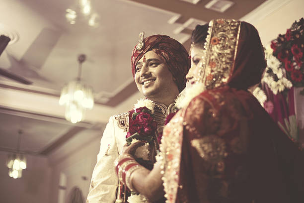 indian wedding ceremony - hinduism stock photos and pictures