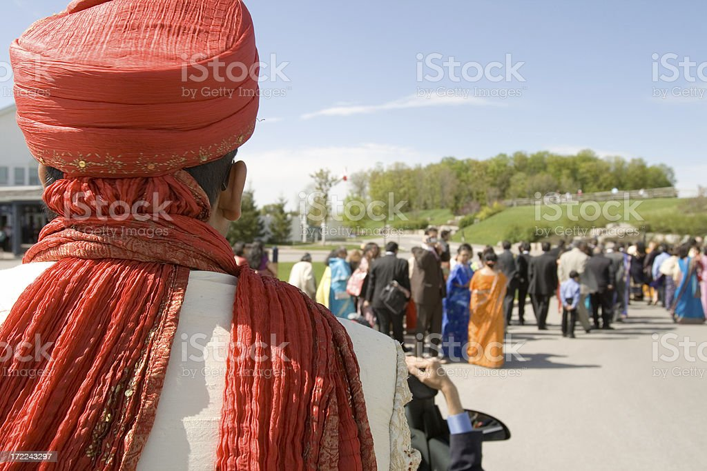 indian wedding procession stock photo
