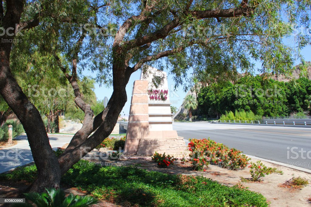 Indian Wells California City Sign East stock photo