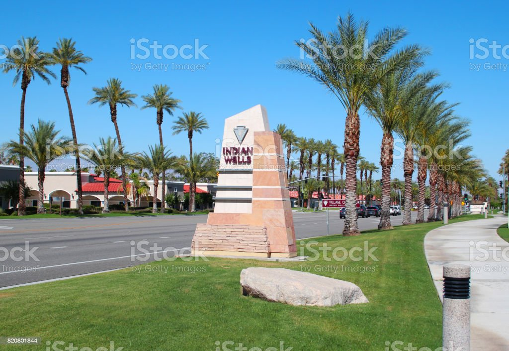 Indian Wells California City Sign West stock photo