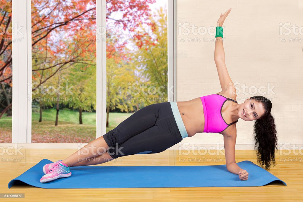 Indian Woman Doing Yoga Pose Stock Photo Download Image Now Istock