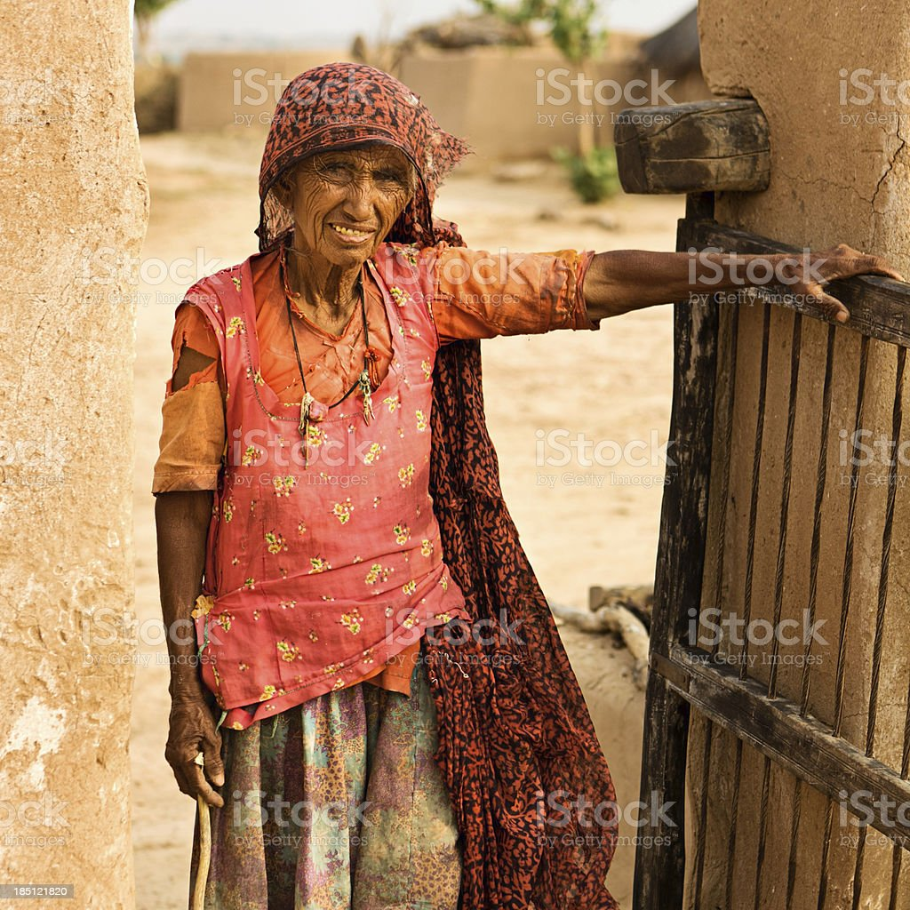 Indian woman in Rajasthan royalty-free stock photo