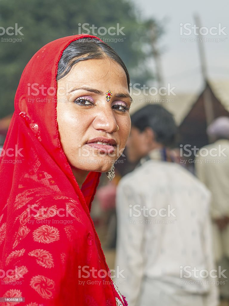 Indian woman looking back royalty-free stock photo