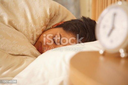 istock Indian woman sleeping 120745256
