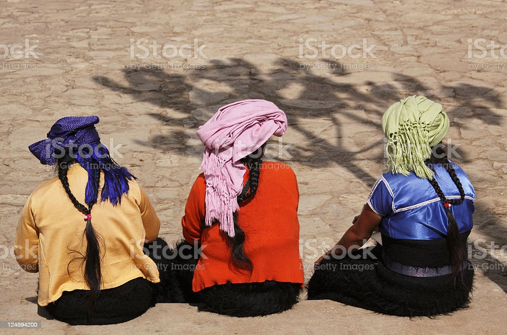 Indian Women in Colors stock photo