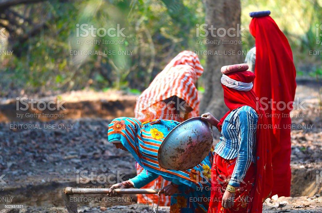 Indian Women Labourer stock photo