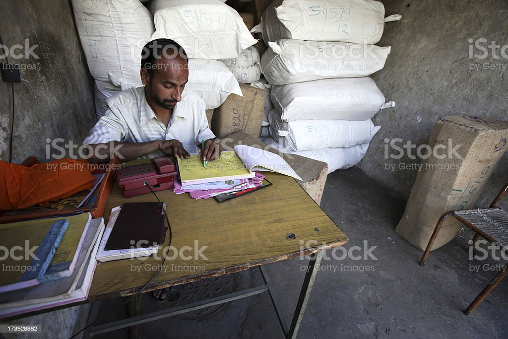 Indian workers: sole trader royalty-free stock photo