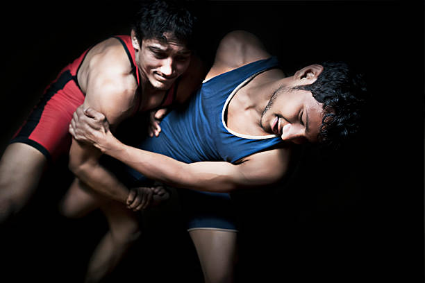 indian wrestling - wrestling stock photos and pictures