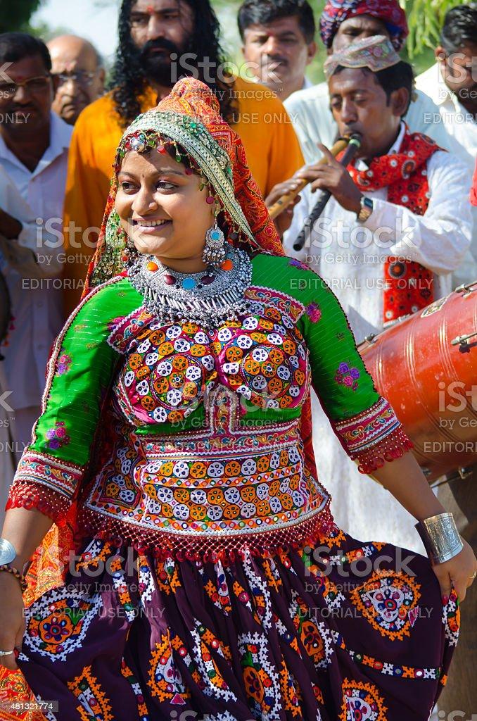Indian Young Gujarati Kutchi Village Girl Stock Photo -1566