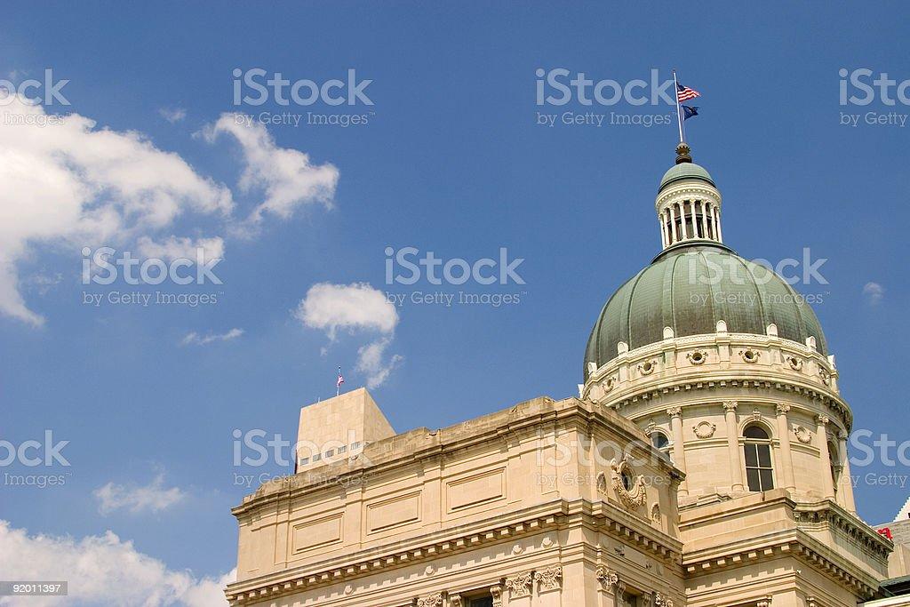 Indiana Capital Building royalty-free stock photo