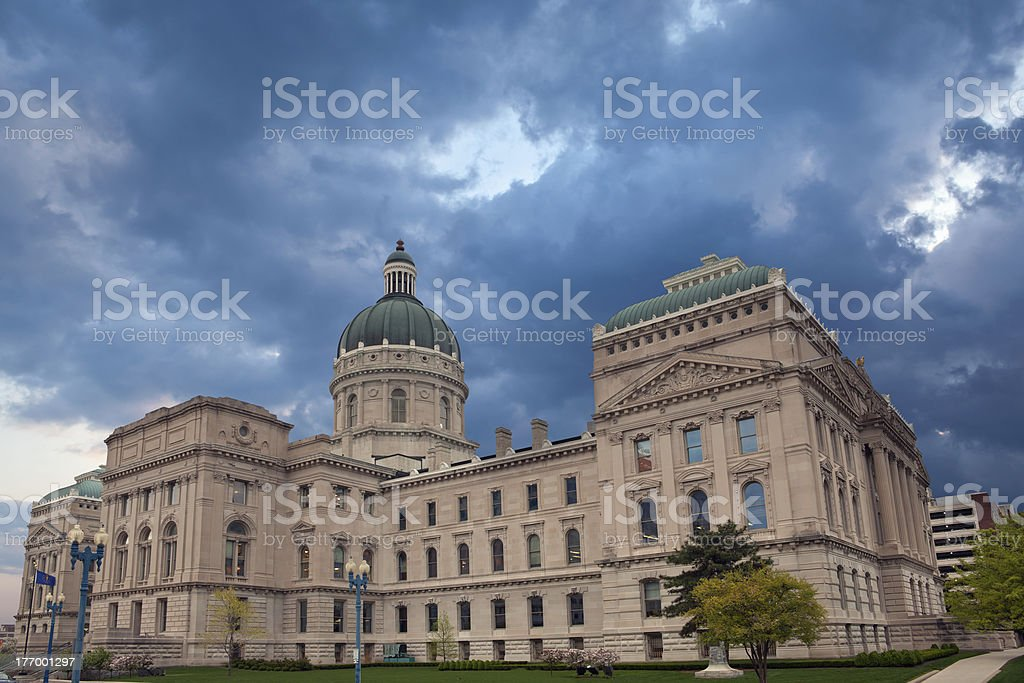 Indiana Capitol Building. royalty-free stock photo