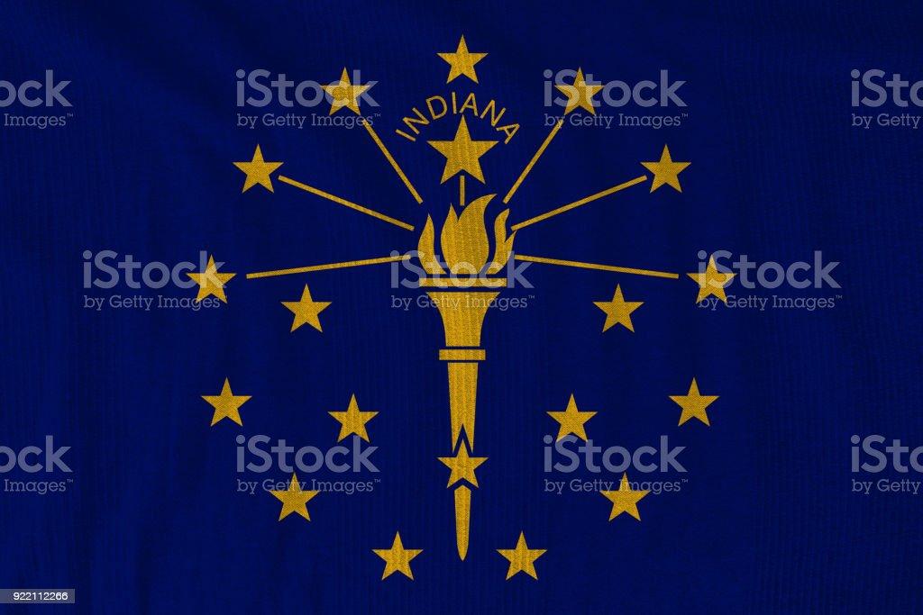 Indiana flag stock photo