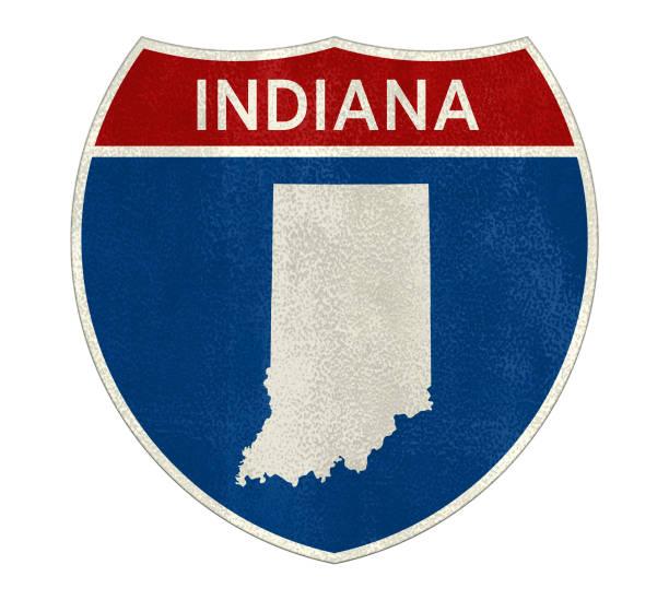 Interstate Indiana Fahrplan Zeichen – Foto
