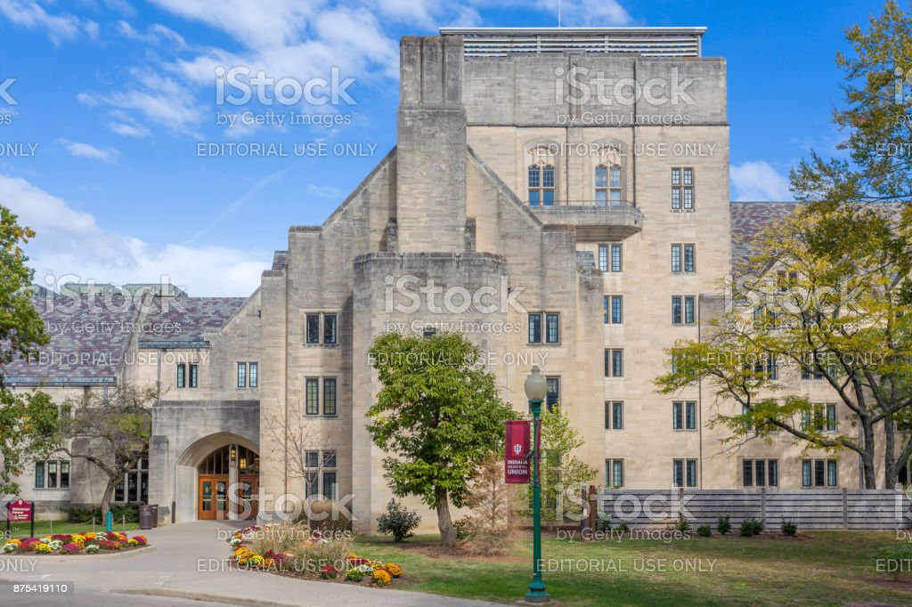 Indiana Memorial Union at the University of Indiana stock photo