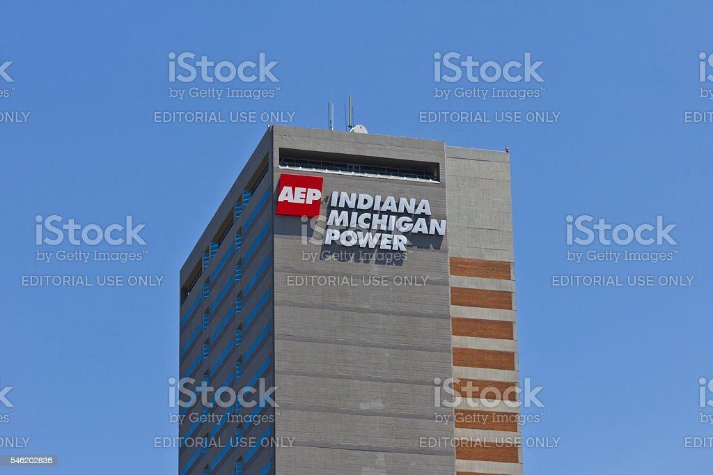 Indiana Michigan Power Center, Headquarters of Indiana Michigan Power I stock photo