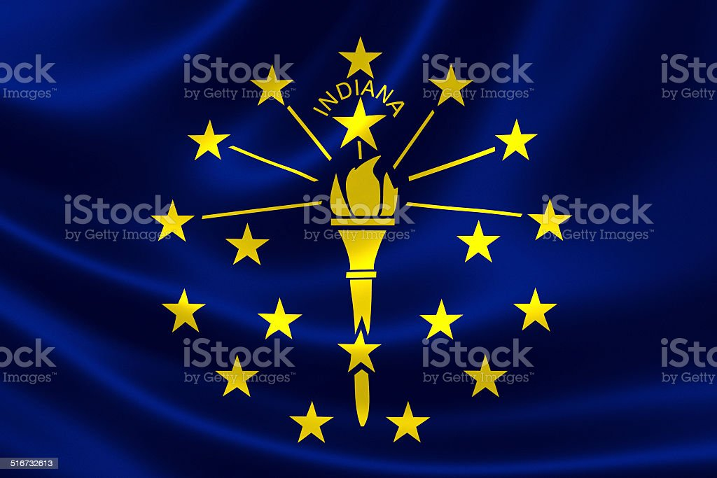 Indiana State Flag stock photo