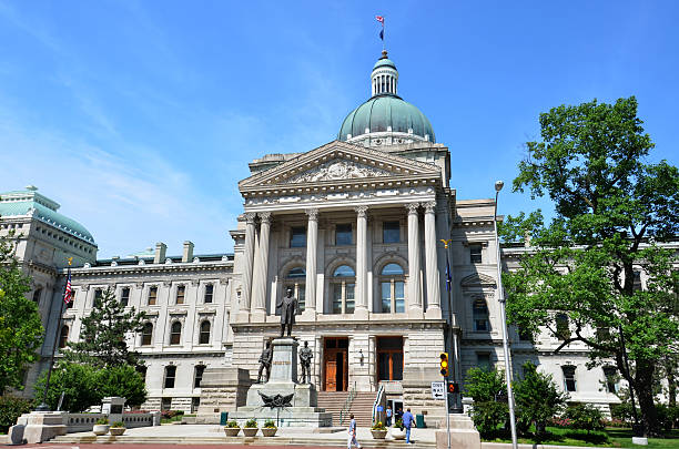 Indiana Statehouse stock photo