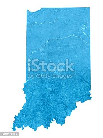 173169385istockphoto Indiana Topographic Map Isolated 483588639
