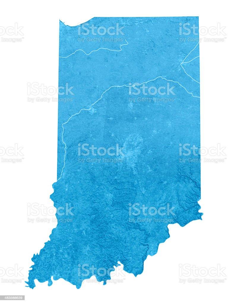 Indiana Topographic Map Isolated stock photo