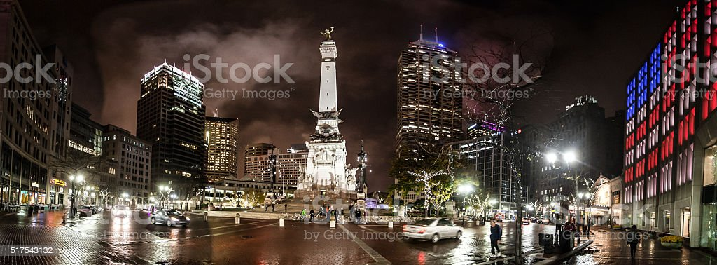 Indianapolis at Night stock photo