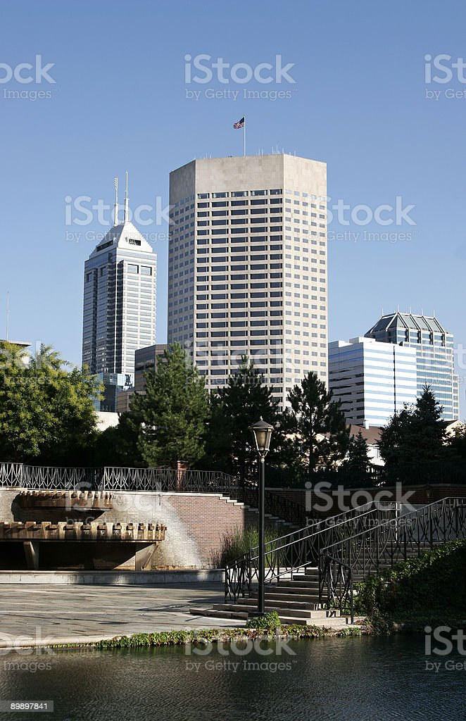 Indianapolis canal royalty-free stock photo