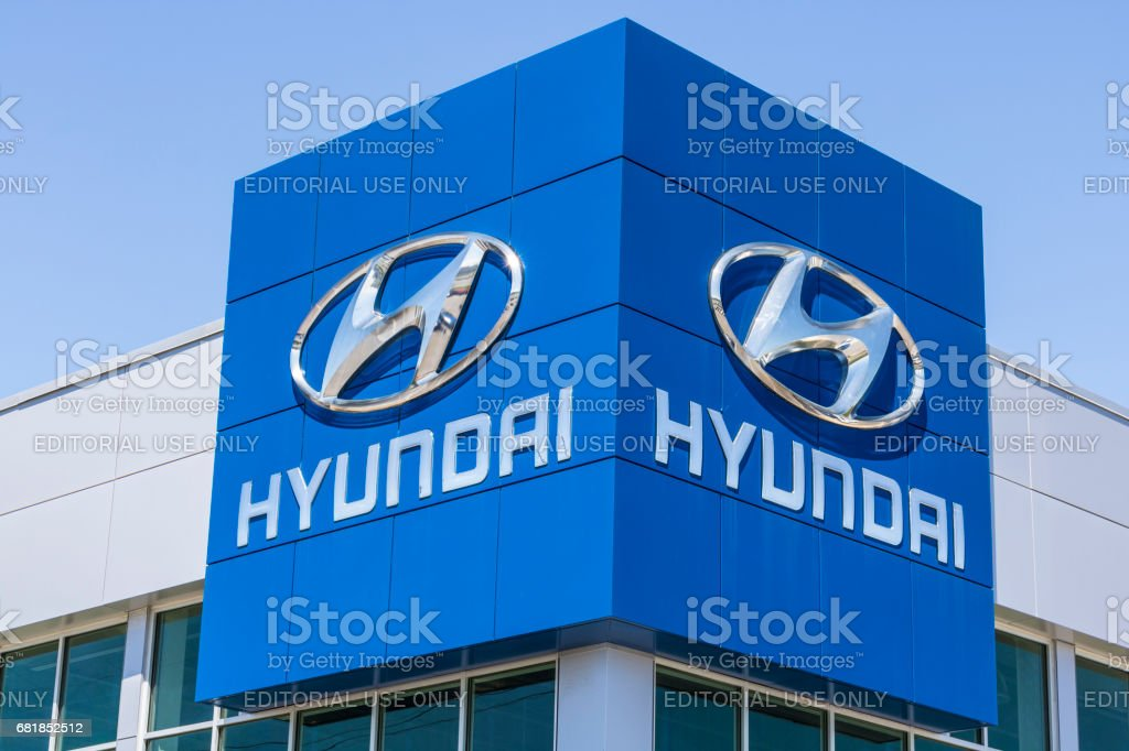 Indianapolis - Circa April 2017: Hyundai Motor Company Dealership. Hyundai is a South Korean Multinational Automotive Manufacturer IV stock photo