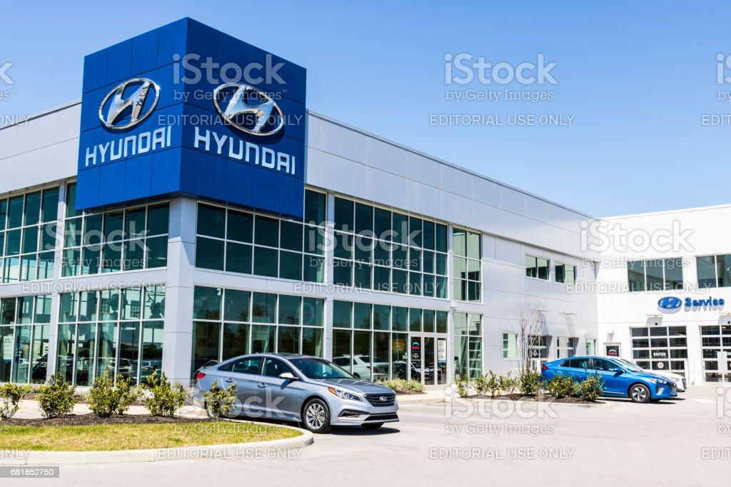 Indianapolis - Circa April 2017: Hyundai Motor Company Dealership. Hyundai is a South Korean Multinational Automotive Manufacturer V stock photo