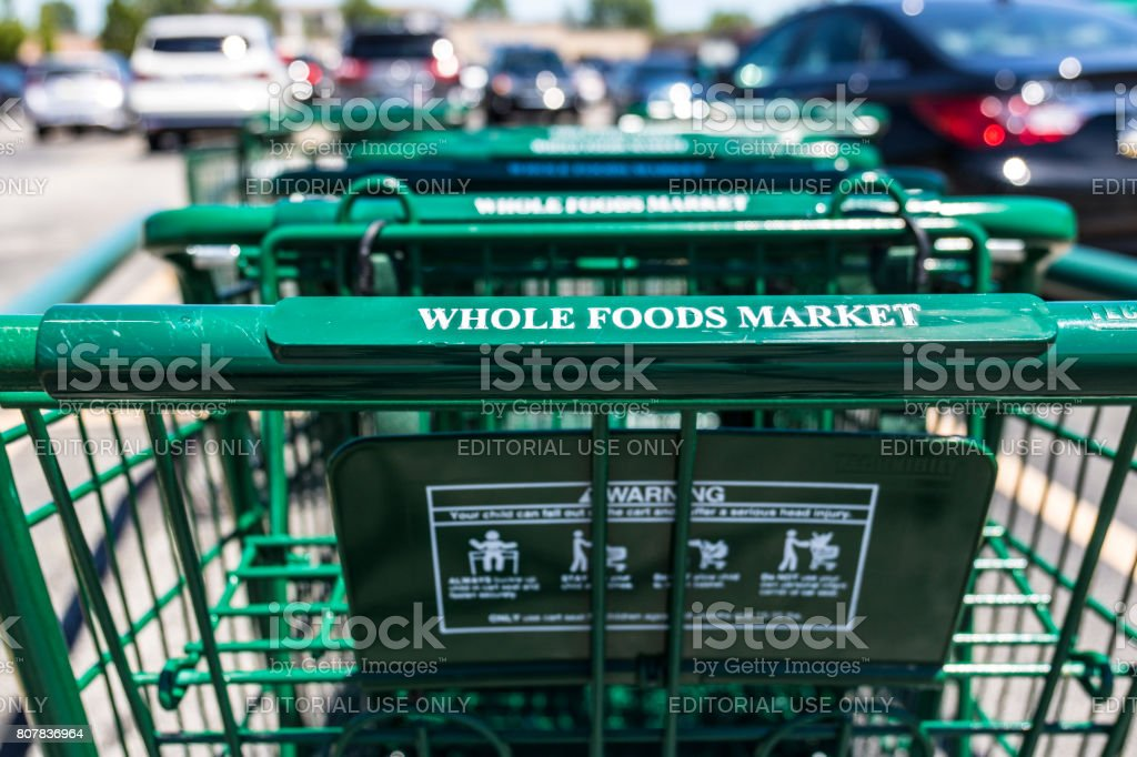 Indianapolis - Circa July 2017: Whole Foods Market. Amazon announced an agreement to buy Whole Foods for $13.7 billion I stock photo