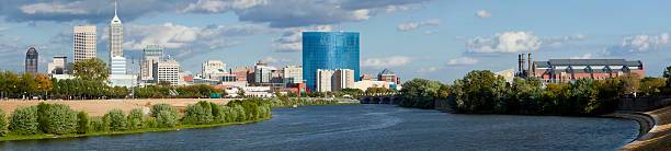 Indianapolis Indiana (panoramic) stock photo