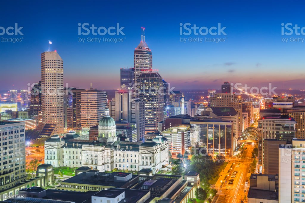 Indianapolis, Indiana, USA Downtown Skyline stock photo