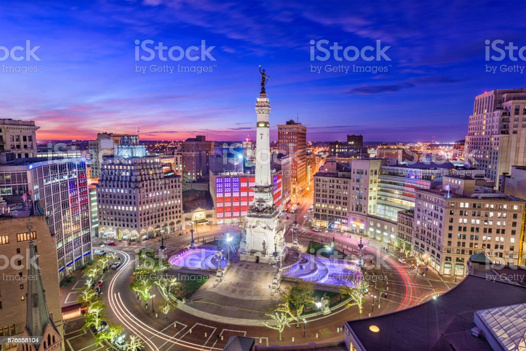 Indianapolis, Indiana, USA stock photo