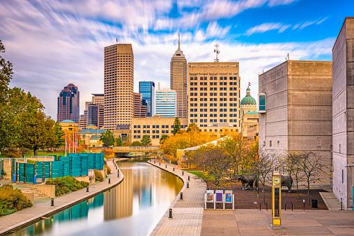 Indianapolis Indiana Usa Skyline Stock Photo Download Image Now Istock