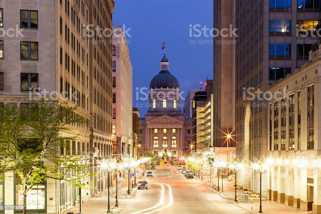 Indianapolis Morning stock photo